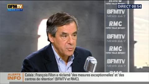 François Fillon face à Jean-Jacques Bourdin en direct