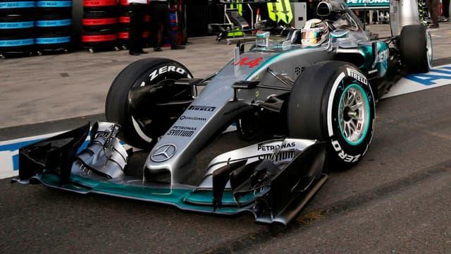 Lewis Hamilton lors des qualifications en Australie