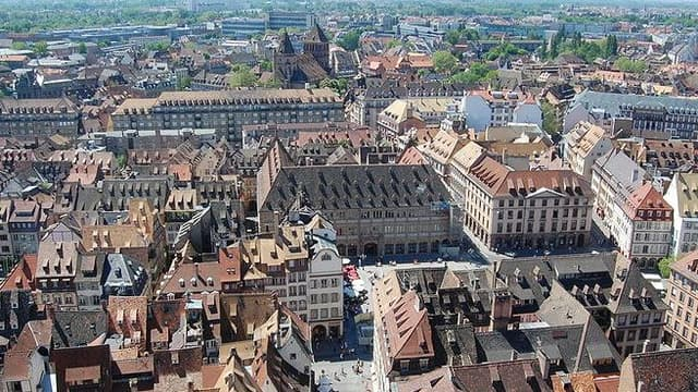 Le marché est au plus calme à Strasbourg