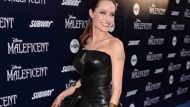 """Angelina Jolie lors de la promotion u film """"Maléfique"""", le 28 mai 2014."""