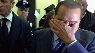 Silvio Berlusconi à la sortie du tribunal le 1er mars