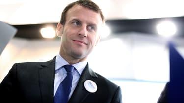Emmanuel Macron lors d'un déplacement à Hanovre, en Allemagne, le 26 avril 2016.