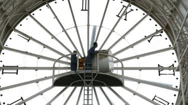 Image d'illustration - Cadran d'horloge de la gare de Cergy-Saint-Christophe (Val d'Oise).
