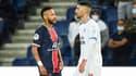 Neymar et Alvaro Gonzalez lors de PSG-OM