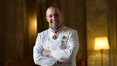 Le chef cuisinier de l'Elysée Guillaume Gomez, le 11 mars 2015 à Rome.