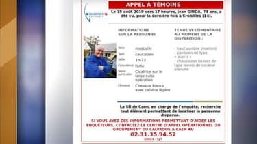 La gendarmerie du Calvados a lancé un appel à témoins.