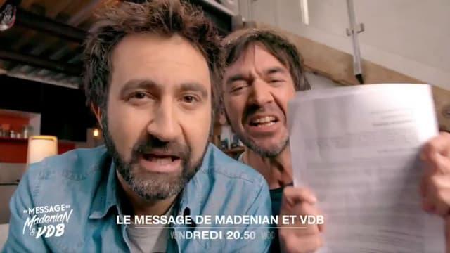 """Le duo d'humoristes proposera une pastille quotidienne """"Le message de Madénian et VDB"""""""
