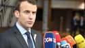 """Emmanuel Macron a estimé que l'exemption provisoire de taxes américaines n'était """"pas satisfaisante""""."""