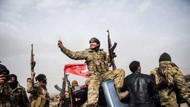 Un combattant syrien ce 22 janvier 2018