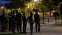 Policiers de la BAC dans la nuit de vendredi à samedi, à Trappes, dans les Yvelines.