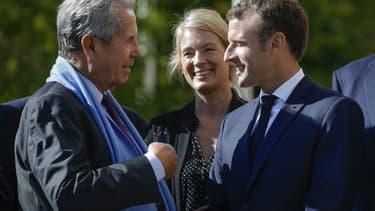 Jean-Louis Debré et Emmanuel Macron, le 4 octobre 2018