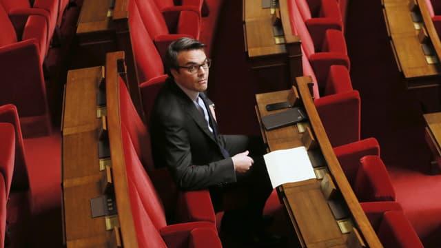 Thomas Thévenoud le 28 novembre 2014 à l'Assemblée nationale.