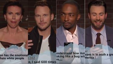 """Les acteurs d'Avengers lisent les """"Mean Tweets"""""""
