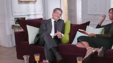 """Nicolas Sarkozy face à Karine Le Marchand dans """"Une ambition intime"""""""