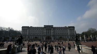 Buckingham Palace, résidence de la reine Elizabeth II, le 16 mars 2017 à Londres