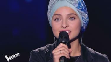"""Mennel Ibtissem sur le plateau de """"The Voice"""""""