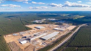 Le site de la Gigafactory Tesla en Allemagne