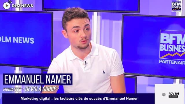 Emmanuel NAMER - multi entrepreneur dans la formation sur le plateau de DLM NEWS en partenariat avec BFM Business