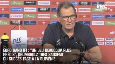 """Euro Hand (F) : """"Un jeu beaucoup plus précis"""", Krumbholz très satisfait du succès face à la Slovénie"""