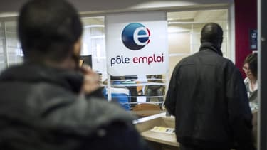 L'agence Pôle-emploi de Pantin le 25 mars 2013