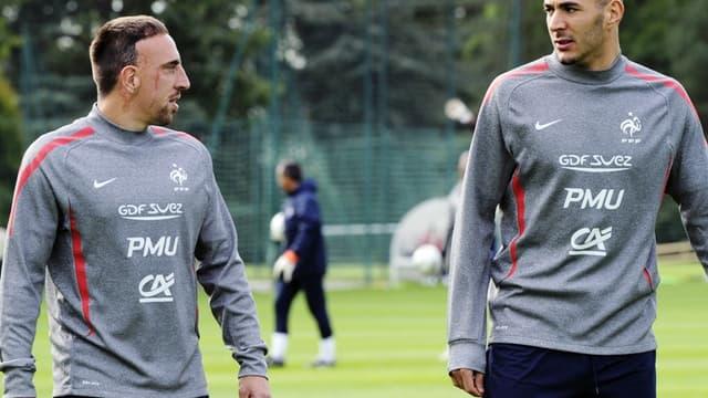 Franck Ribéry et Karim Benzema