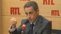 Nicolas Sarkozy sur RTL mercredi matin.
