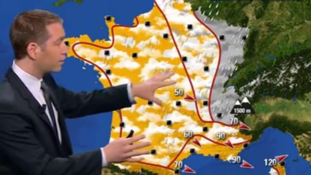 La dépression qui recouvre actuellement une bonne partie de la France, va progressivement s'éloigner vers l'Est.
