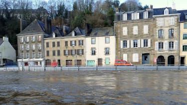 Quimperlé sous les eaux, le 3 janvier 2014.