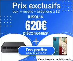 Box + Forfait Mobile + Téléphone à 31,98 € / mois