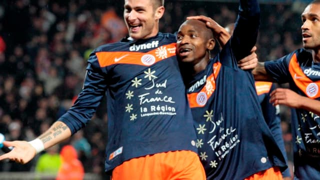 Olivier Giroud et Souleymane Camara