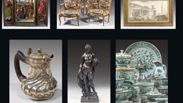 Une sélection d'oeuvres d'art destinées à être vendue à Drouot le 16 juin (DR)