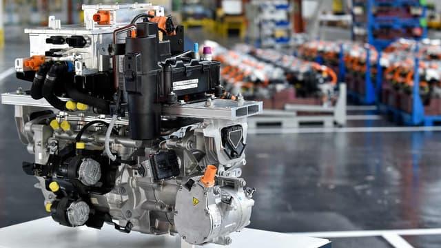 Un moteur électrique à l'usine de Trémery, en Moselle.