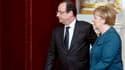 François Hollande et Angela Merkel, ici le 18 décembre dernier à Paris, avant un sommet européen.