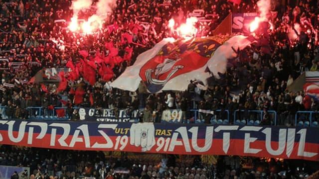 Les supporters du PSG de la tribune Auteuil