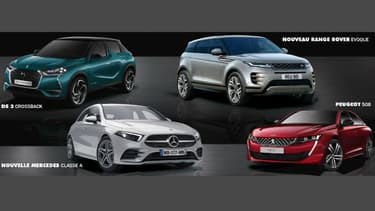 Les quatre finalistes de ce concours de beauté automobile
