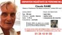 Claude, 81 ans, a disparu depuis dimanche 7 octobre