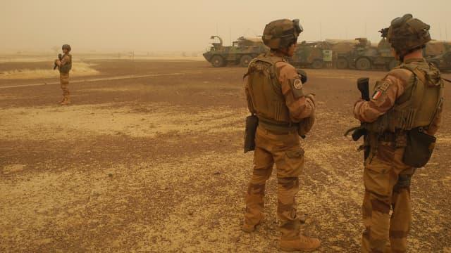 Des militaires de l'opération Barkhane, en mars 2019, au Mali