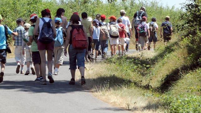 Une colonie de vacances à Naucelle, dans l'Aveyron, en juillet 2010