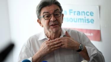 Le leader de la France insoumise (LFI), Jean-Luc Mélenchon, lors d'une conférence de presse à Marseille, le 6 juin 2020