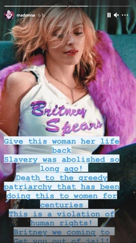 Le message de soutien de Madonna à Britney Spears