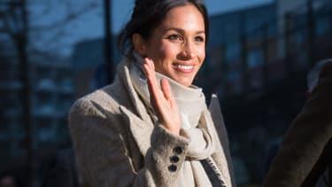 Meghan Markle dans le quartier de Brixton à Londres le 9 janvier 2018