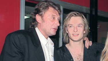 Johnny et David Hallyday