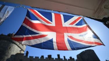 Un drapeau du Royaume-Uni aux abords du château de Windsor, samedi 17 avril 2021