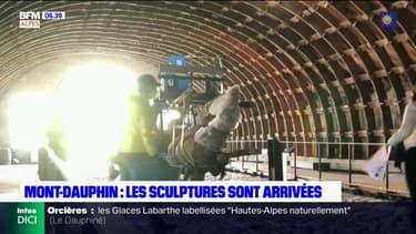 Mont-Dauphin: les sculptures d'Ousmane Sow sont arrivées en provenance de Dakar