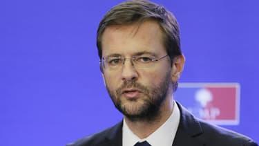Jérôme Lavrilleux le 22 novembre 2012 au siège de l'UMP. L'eurodéputé sera auditionné par un trio de cadres de l'UMP.