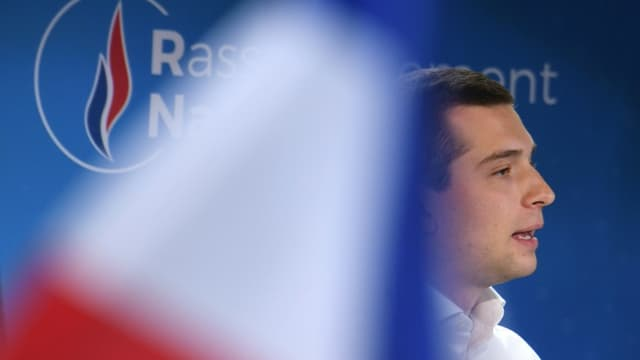 La tête de liste RN aux élections régionales en Ile-de-France, Jordan Bardella, le 12 juin 2021 à Mormant