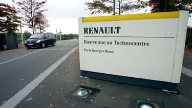 L'agent était en mission au Technocentre de Guyancourt (Yvelines)