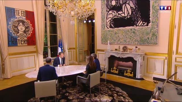 Le bureau personnel d'Emmanuel Macron.