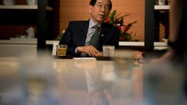 Park Won-Soon, maire de Séoul depuis 2011, dans la capitale sud-coréenne, le 26 mai 2014