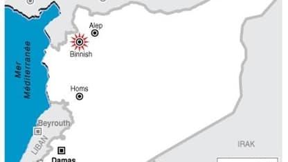L'ARMÉE SYRIENNE PÉNÈTRE DANS LA VILLE DE BINNISH, PRÈS DE LA FRONTIÈRE TURQUE